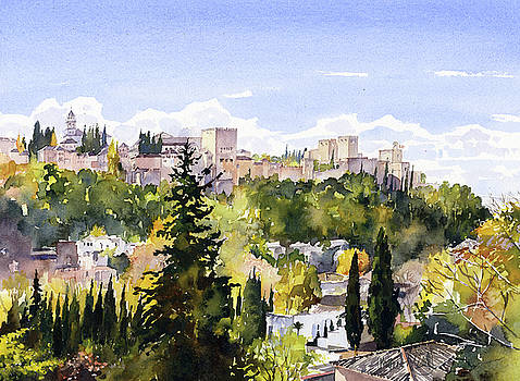 The Alhambra From Sacromonte by Margaret Merry