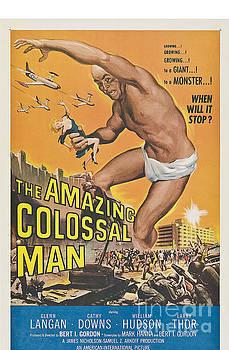 R Muirhead Art - The Amazing Colossal Man Movie Poster