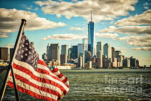 Julian Starks - The American Flag and Freedom Tower