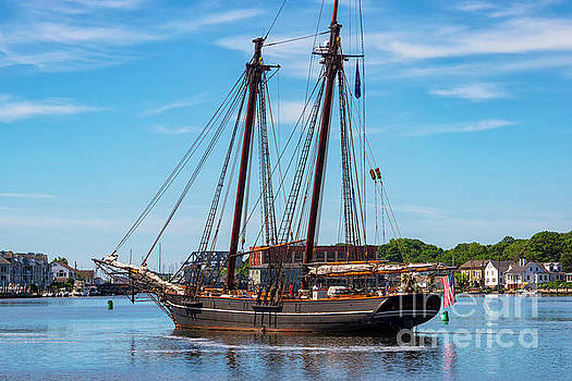 The Amistad Departs Mystic by Joe Geraci