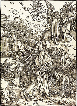 Albrecht Durer - The Angel with the Key to the Bottomless Pit