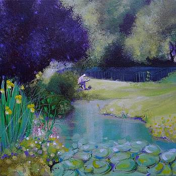 The Artist and the Lily Pads by Ruth Gray
