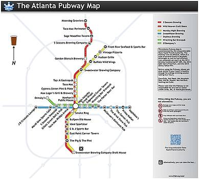 The Atlanta Pubway Map by Unquestionable Taste