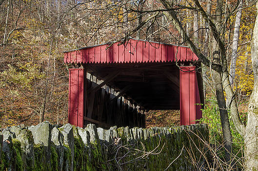 The Autumn Season - Thomas Covered Bridge by Bill Cannon
