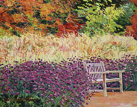 The Autumn Sunbench by David Lloyd Glover