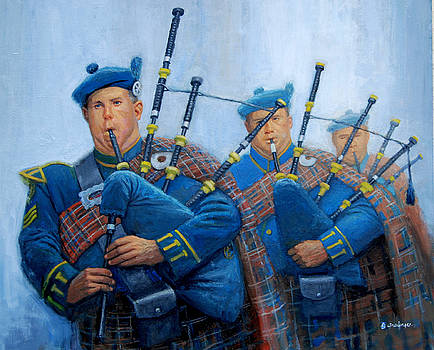 The Bagpipers by Mel Greifinger