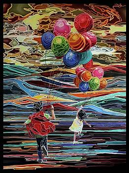 The Balloon Fliers by Maria Pureza Escano