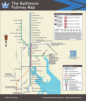 The Baltimore Pubway Map by Unquestionable Taste