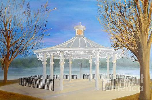 The Bandstand Basingstoke War Memorial Park by Karen Jane Jones