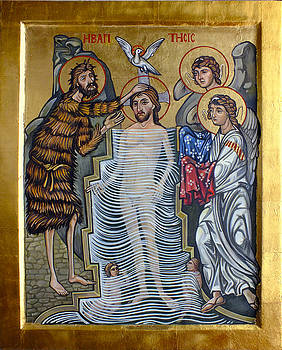 The Baptism of Christ by Filip Mihail