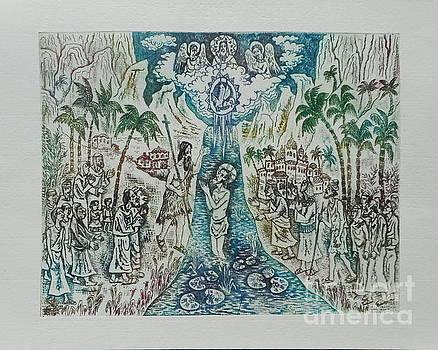 The baptism of Jesus by Milen Litchkov