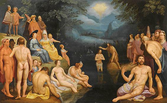 Cornelis Cornelisz van Haarlem - The Baptistm of Christ