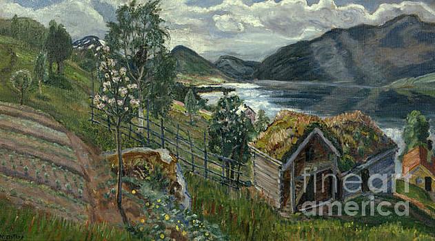 The barn at Sandalstrand by Nikolai Astrup