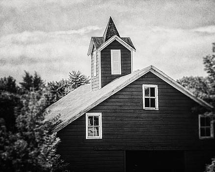 Lisa Russo - The Barn in the Woods in Black and White