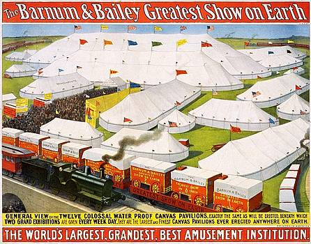 The Barnum Bailey greatest show on Earth, circus poster, 1899 by Vintage Printery