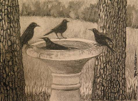 The Bathers - Four Crows by Regina Calton Burchett