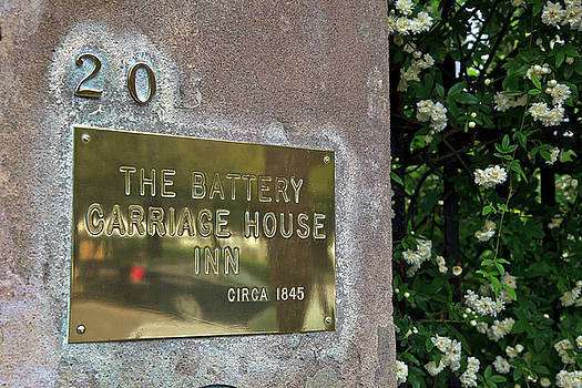 Jill Lang - The Battery Carriage House Inn Sign