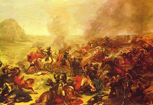 The Battle Of Nazareth 1801 by Gros AntoineJean