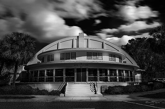 The Bay Front Community Center bw by Marvin Spates