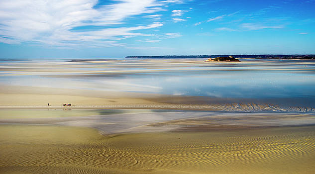The Bay of the Mont Saint-Michel - tide out. by Paul Cullen