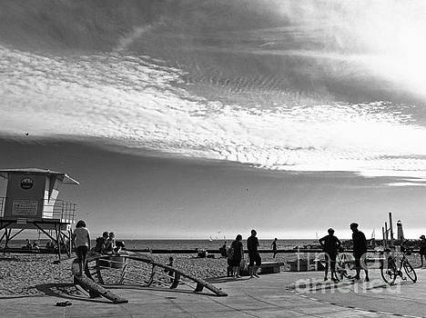 The Beach At Santa Cruz  by Chris Berry