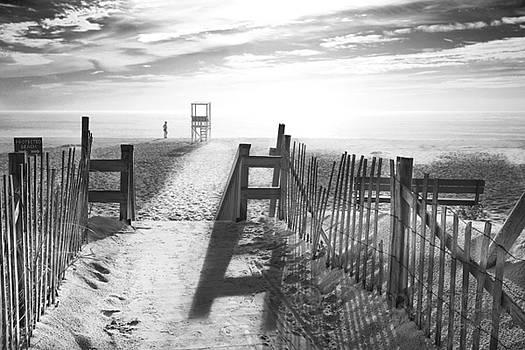 The Beach Black and White Photography by Dapixara