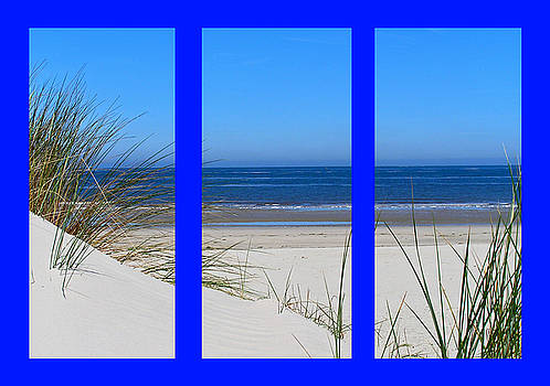 The Beach on Blue by John Vriesekolk