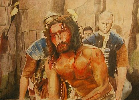 The Beating of Jesus by Bennie Parker