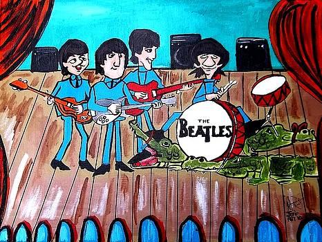 The Beatles Cartoon by Jeffrey Foti