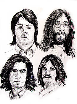The Beatles, Four Faces, 1968 by Ron Enderland