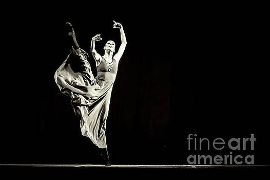 Dimitar Hristov - The beautiful ballerina dancing in long dress