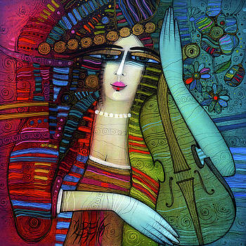 The beauty and the violin by Albena Vatcheva