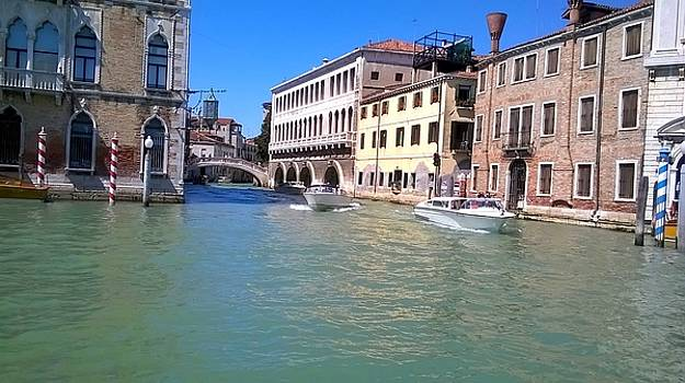 The beauty of the Grand Canal Venice by Rusty Woodward Gladdish