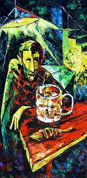 The Beer Drinker by Keren Gorzhaltsan
