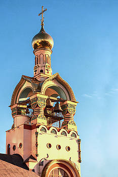 The bell tower of the temple of Grand Duke Vladimir by George Westermak