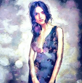 The Berthe In Me Navy Dress by Janice MacLellan