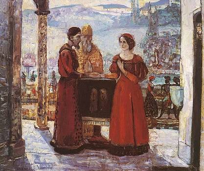 The Betrothal Of Mary 1903 by Gulacsy Lajos