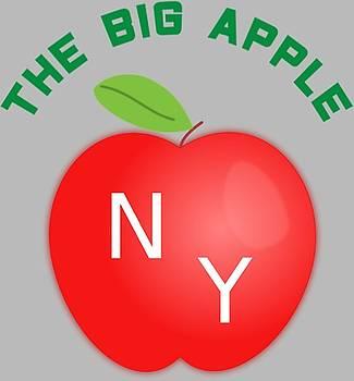 The Big Apple NY - T-Shirt Design by Tin Tran