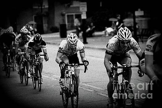 Frank J Casella - The Bike Race - Black and White