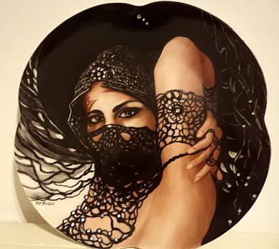 The black lace veil by Patricia Rachidi