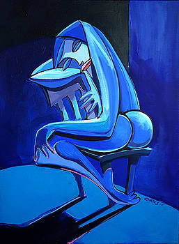 The Blue Chair by Joe Cortes