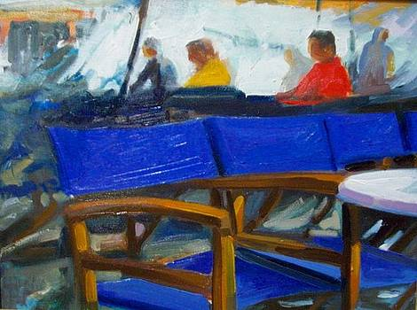 The blue chairs by George Siaba