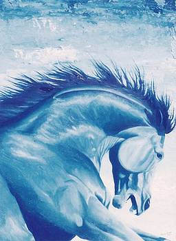 The Blue Cheval by Louise Green