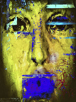 The blue clothed mouth by Gabi Hampe