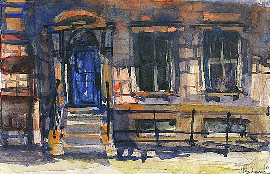 The Blue Door, New York by Kristina Vardazaryan