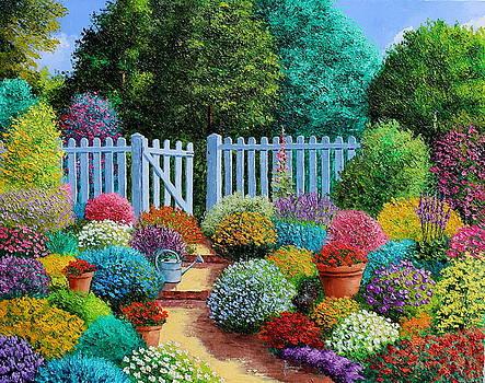 The blue fence by Jean-Marc JANIACZYK