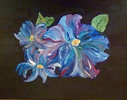 The Blue Flowers by Phyllis Hollenbeck