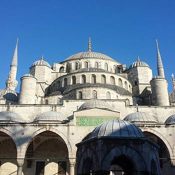 The Blue Mosque In #instanbul With A by Dante Harker