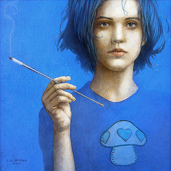 THE BLUE SMOKER CATERPILLAR from Alice in Wonderland by Jose Luis Munoz Luque