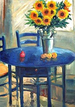 George Siaba - The blue table 1